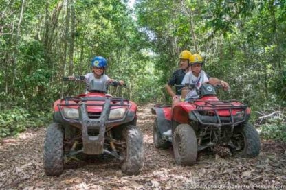 Adventure for kids, riding on atv