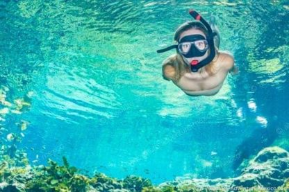 snorkeling tour in cenote of coba