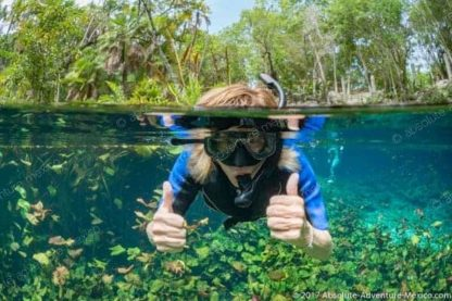 crystal clear cenote water
