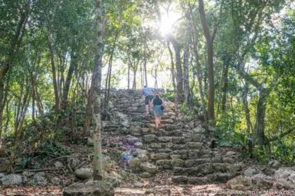 Ruins of Coba in the jungle