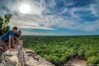 View from top of coba highest temple