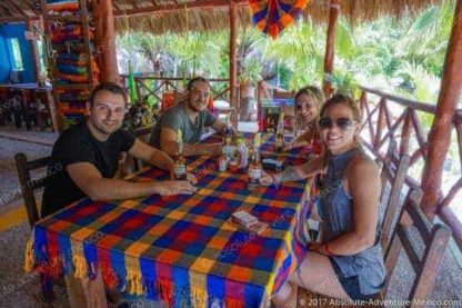 authentic lunch at dos ojos cenote