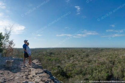 View over the mayen jungle of Coba