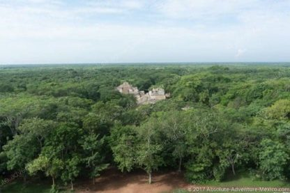 view from top of temple from ek Balam