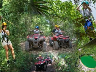 atv, zip lines and cenote tour