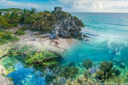 tour to tulum with reef snorkeling and cenote